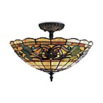 Elk Lighting Tiffany Buckingham 3-Light Semi-Flush Fixture in Bone Glass