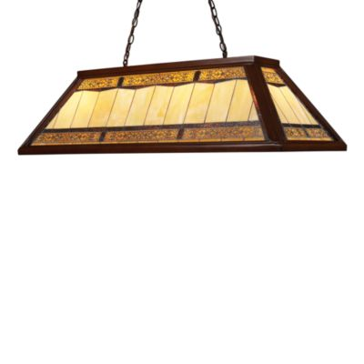 Elk Lighting Tiffany 4-Lght Billiard/Island Light in Dark Mahogany