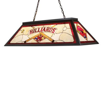 ELK Lighting Tiffany Game Room/ Billiard/Island Light in Red/Tiffany Bronze