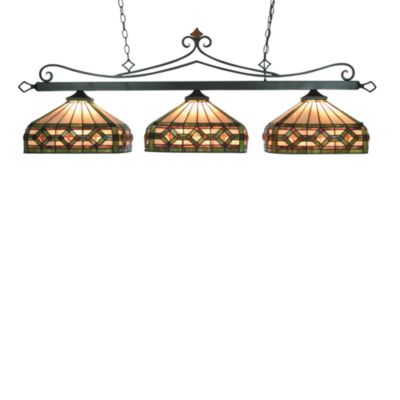 Elk Lighting Tiffany 3-Light Island/Billiard Light in Round Shades