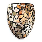 Elk Lighting Trego 1-Light Sconce w/Multicolored Stone in Dark Rust