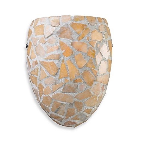 Landmark Lighting Trego 1-Light Sconce w/Tan Stone