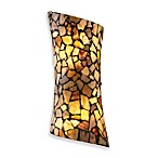 Elk Lighting Trego 2-Light Sconce w/Multicolored Stone in Dark Rust