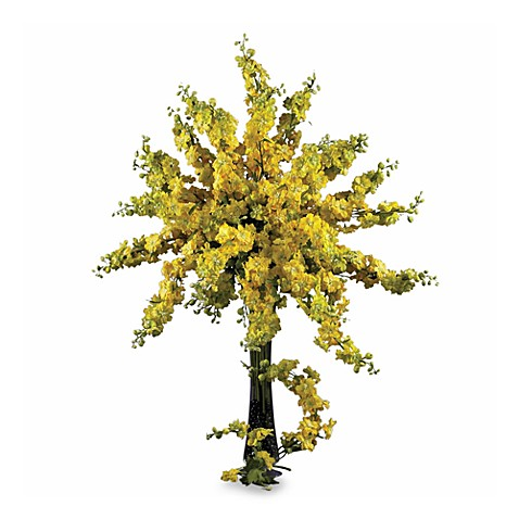Nearly Natural Delph In Ium Bouquet In Yellow Www