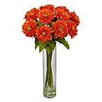 Nearly Natural Sunflower with CylinderVase Silk Flower Arrangement in Orange