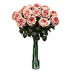 Nearly Natural Fancy Rose Silk Flower Arrangement in Pink