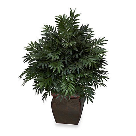 "Nearly Natural 43"" Triple Bamboo Palm with Decorative Planter"