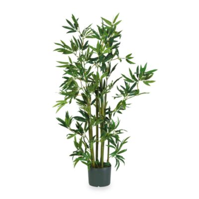 Nearly Natural 4-Foot Bamboo Silk Plant