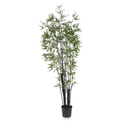 Nearly Natural 6.5-Foot Black Bamboo Silk Tree