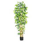 Nearly Natural 7-Foot Multi-Bambusa Bamboo Silk Tree