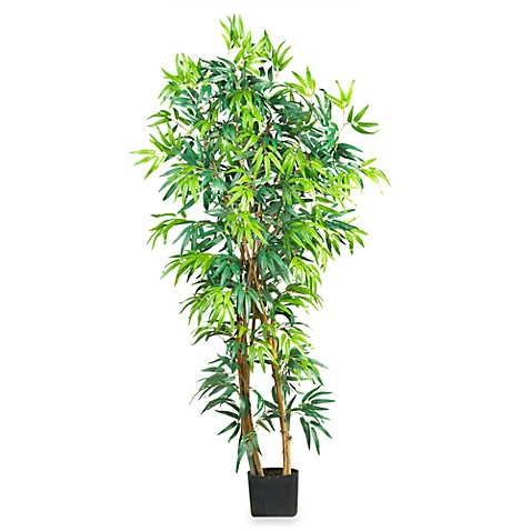Nearly Natural 5' Fancy Style Curved Bamboo Silk Tree