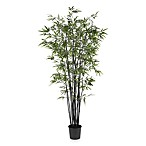 Nearly Natural 6 1/2-Foot Black Bamboo Silk Tree