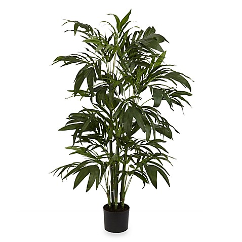 Nearly Natural 4' Green Bamboo Palm Silk Tree