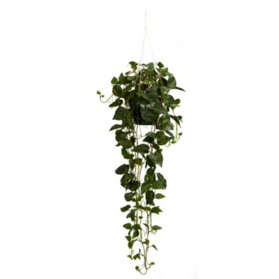 Nearly Natural Philodendron Silk Plant Hanging Basket