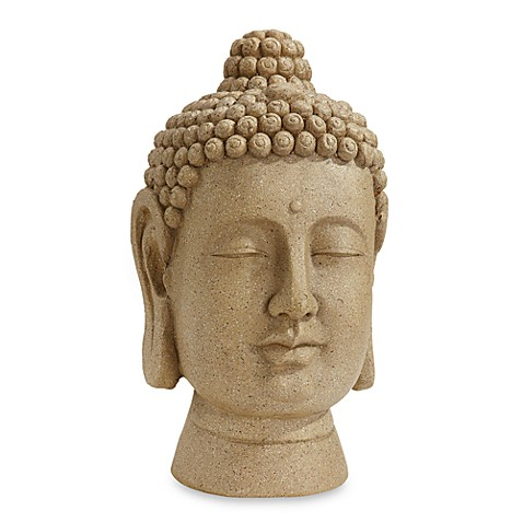 Nearly Natural Large Buddha Head Statue