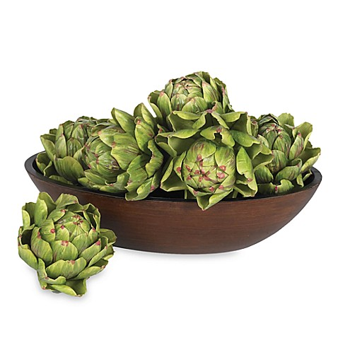 Nearly Natural 5-Inch Artichoke (Set of 6)