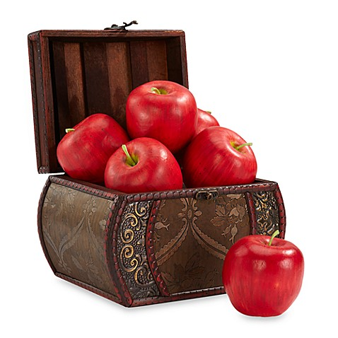 Nearly Natural Faux Apple Set (Set of 6)