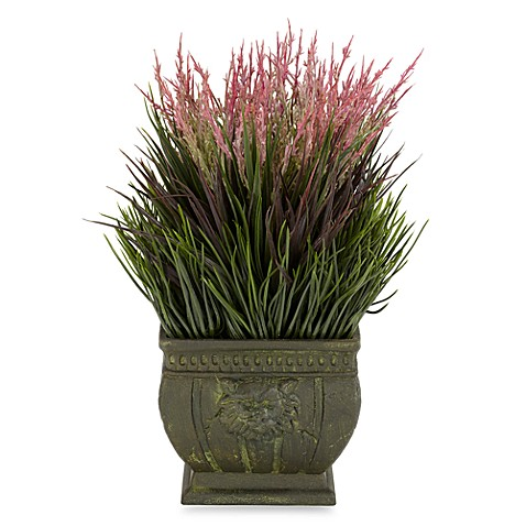 Nearly Natural Silk Mixed Grass Indoor/Outdoor Plant w/Planter