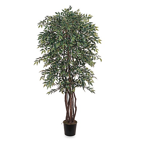 Nearly Natural 6' Potted Silk Smilax Tree