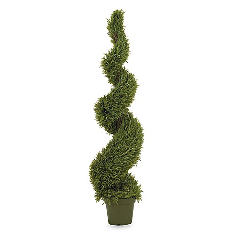 Nearly Natural 5' Silk Rosemary Spiral Tree