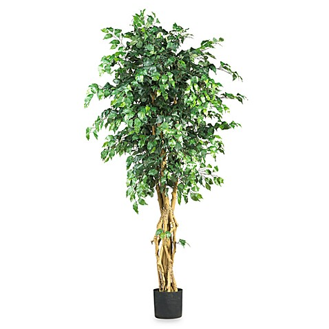 Nearly Natural 6-Foot Palace Style Silk Ficus Tree