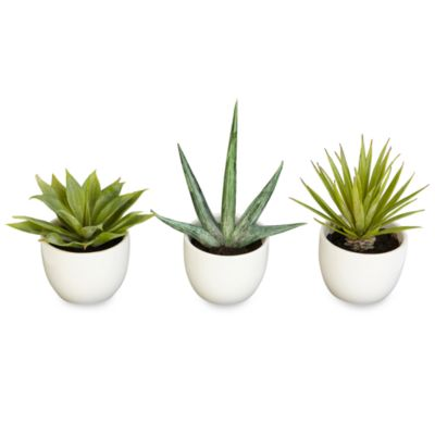 Nearly Natural Southwest Silk Agave Collection (Set of 3)