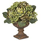 Nearly Natural Silk Artichoke Flower Centerpiece