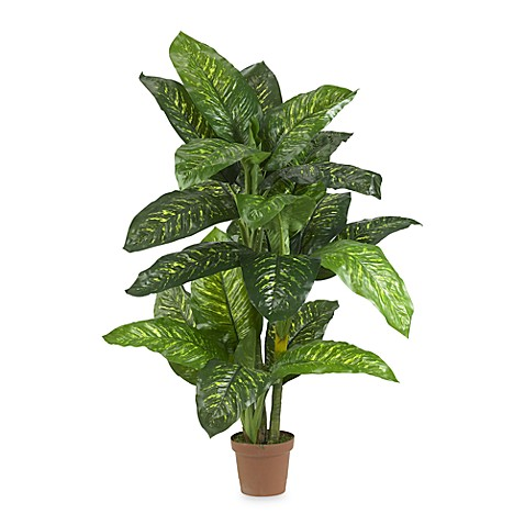 Nearly Natural Real Touch 5' Silk Dieffenbachia Plant