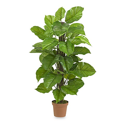 Nearly Natural Real Touch 52-Inch Large Leaf Silk Philodendron Plant