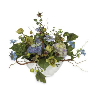 Nearly Natural Silk Hydrangea Centerpiece