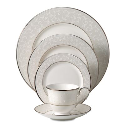 Lenox® Opal Innocence™ Teacup in White/Platinum