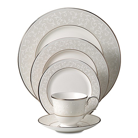 Lenox® Opal Innocence™ 5-Piece Place Setting in White/Platinum