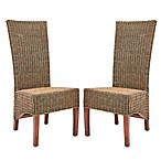 Safavieh Siesta Side Chairs - Honey Black Wicker (Set of 2)