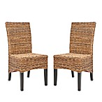 Safavieh Laguna Side Chairs in Multi-Brown (Set of 2)