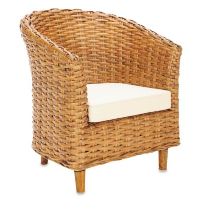 Safavieh Omni Barrel Chair in Honey Finish