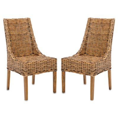 Safavieh Suncoast Arm Chairs in Natural (Set of 2)
