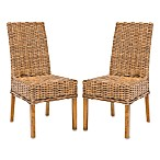 Safavieh Sanibel Side Chairs in Brown (Set of 2)