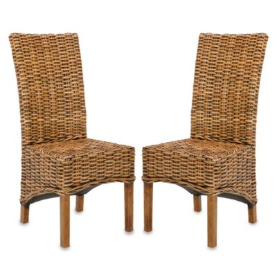 Safavieh Isla Side Chairs in Brown (Set of 2)