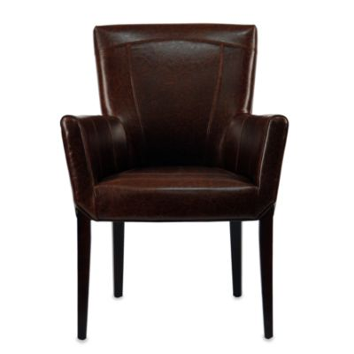Safavieh Ken Arm Chair in Brown Leather