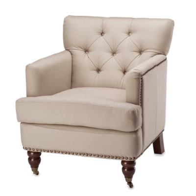 Safavieh Colin Tufted Club Chair in Ecru