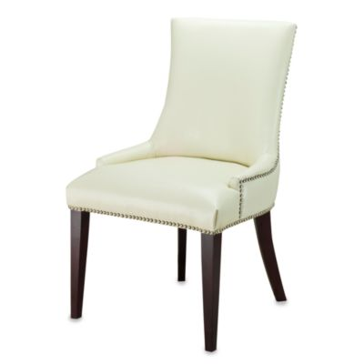 Safavieh Becca Cream Leather Dining Chair