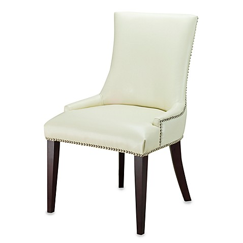 Safavieh Becca Leather Dining Chair in Cream