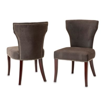 Safavieh Ryan Fabric Side Chairs in Bark (Set of 2)
