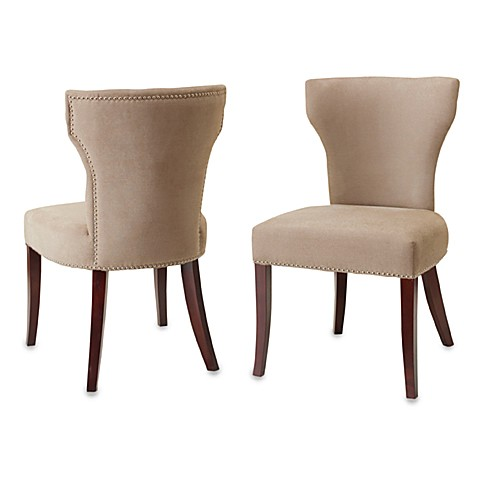 Safavieh Ryan Fabric Side Chairs in Wheat (Set of 2)