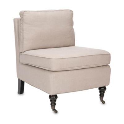 Safavieh Randy Armless Club Chair in Beige