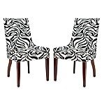 Safavieh Adell Chairs in Zebra (Set of 2)