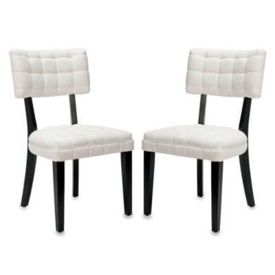 Safavieh Merryl Chairs - Ivory (Set of 2)