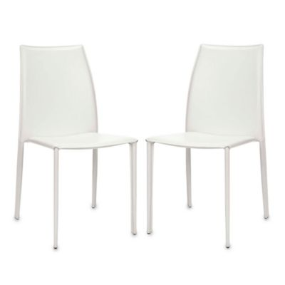 Safavieh Korbin Side Chairs in White (Set of 2)