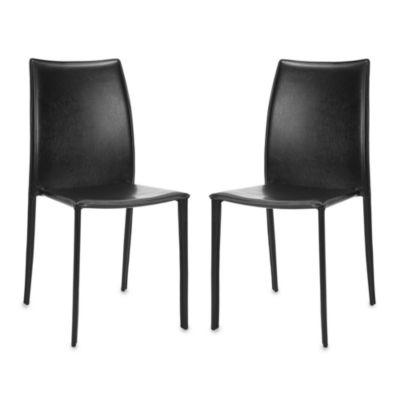 Safavieh Korbin Side Chairs in Black (Set of 2)