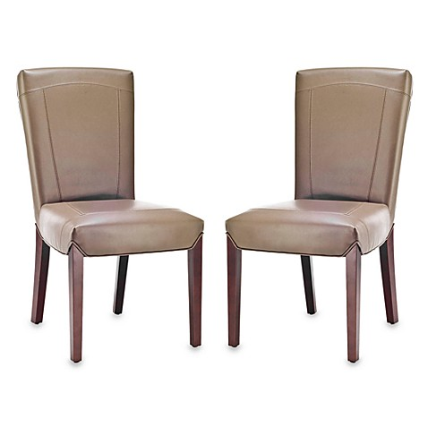 Safavieh Ken Side Chair in Clay Leather (Set of 2)